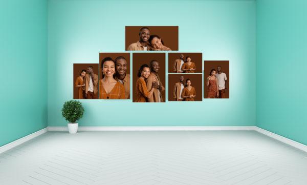 7 Piece Canvas 2x A2 - 2x A1 - 2xA3 - 1x A4